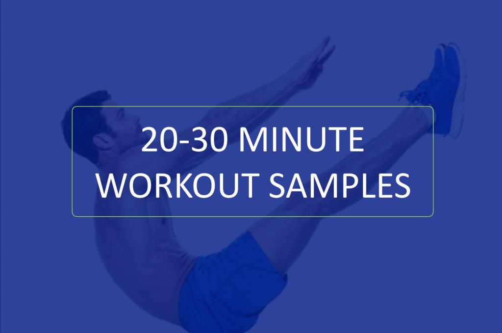Bodyweight Workout samples